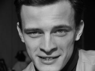Portrait. Man. Laughter. Black&White