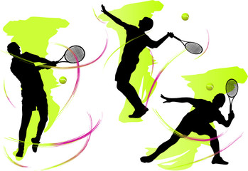 tennis players (vector)