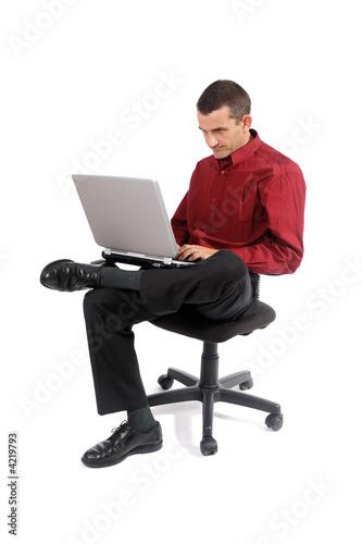 Homme travaillant au bureau photo libre de droits sur la for Bureau homme