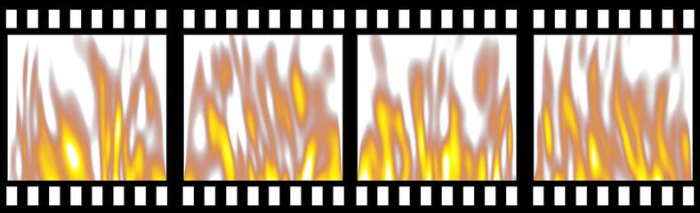 Burning Film Strip