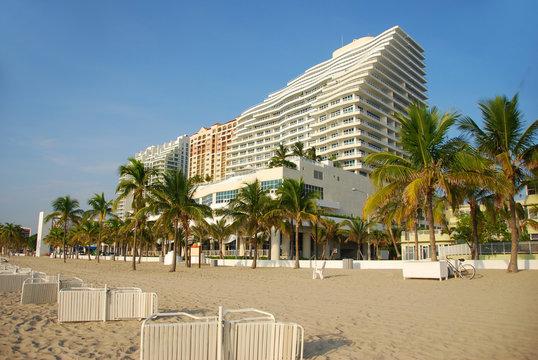 Luxury beachfront resort in South Forida
