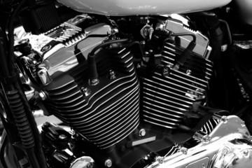 Fototapete - Gros plan sur le moteur d'une moto de grosse cylindrée