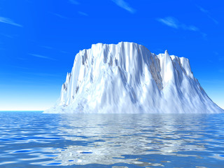 snow-white cold iceberg