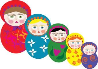 Babushka dolls / Russian dolls