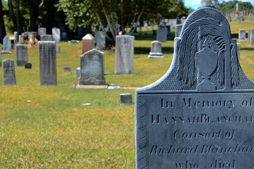 headstone at cemetery