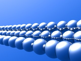 3D Balls in Rows (Silver)