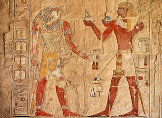 In de dag Egypte ancient egyptian fresco