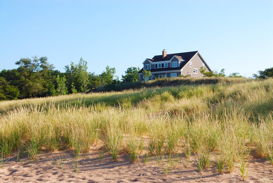 Residential Vacation Home on Lake Michigan, USA