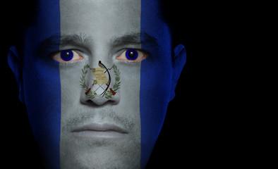 Guatemalan Flag - Male Face