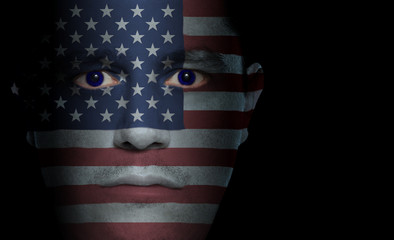 American Flag - Male Face