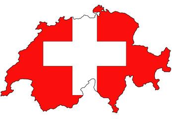 """Fond de carte """"Drapeau Suisse"""" détouré"""