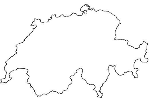 Fond de carte Suisse contour