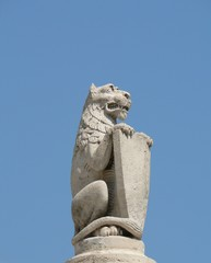Lion with shield