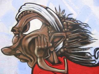 Graffiti, personnage qui s'ennuie