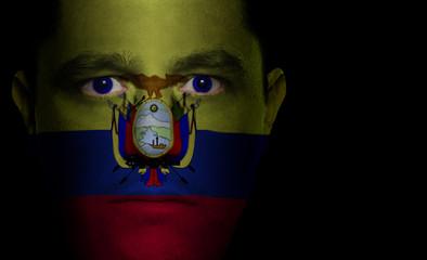 Ecuadorian Flag - Male Face