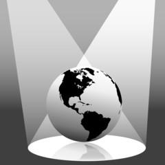 Earth Globe in Spotlight West
