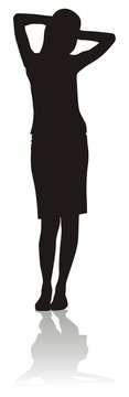 silhouette of bisiness woman