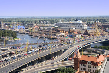 Obraz Szczecin Cityscape - fototapety do salonu