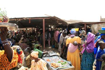 Printed kitchen splashbacks Africa djenné ,le marche des femmes