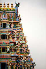 Section of roof of Indian temple in Singapore