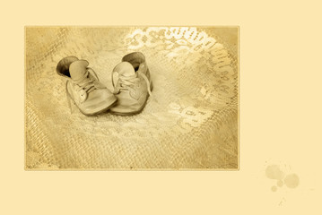 Antique Baby Shoes Photo
