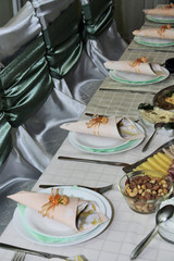 catering- table setting at home for a dinner party