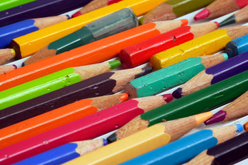 Used colouring pencils