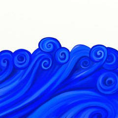 painted waves