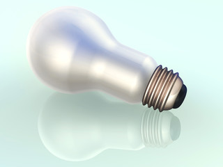 Light bulb 3d concept illustration