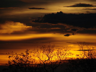 Sonnenuntergang über Angkor Wat
