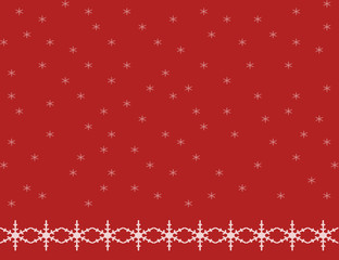Snowflake Background Red