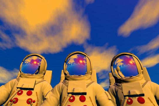 3D render of astronaut