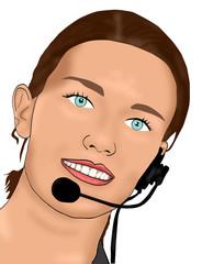 telefonistin call-center
