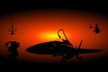 pont de porte avion militaire