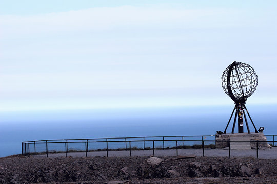 The globe at the North Cape:  Northernmost point of Europe