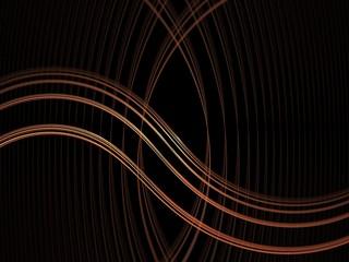Orange waves fractal