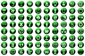 web icon set green