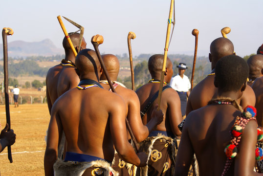 Reed Dance in Swaziland - tribal chiefs