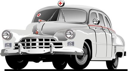 Fototapeta Vector Retro Ambulance obraz