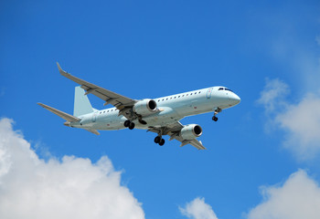 Embraer 190 passenger jet airplane