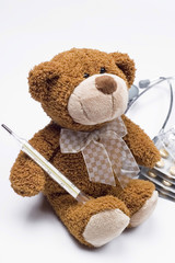 Teddy bear as a doctor
