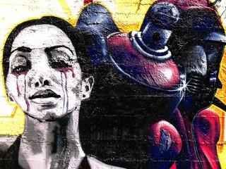 Femme en pleurs (graffiti)
