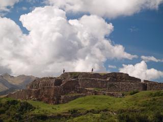 Puca Pucara, Ancient Inca fortress, Cuzco, Peru