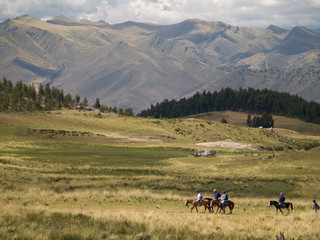 Horse riding in the secret valley of the Incas