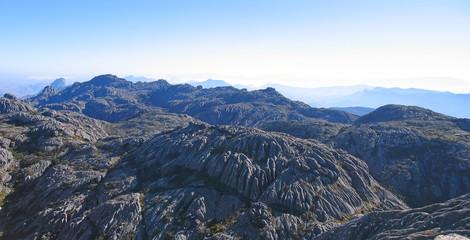 Mountains range from Boby peak, Andringitra park, Madagascar