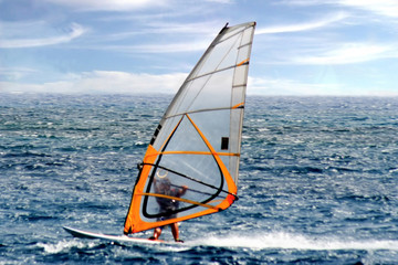 Orange Windsurfer