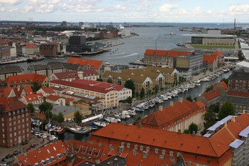 Copenhagen, view from above