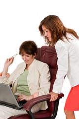 Businesswomen in discussion