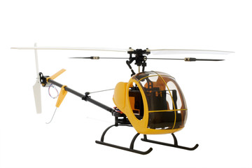 guided by radio model of helicopter
