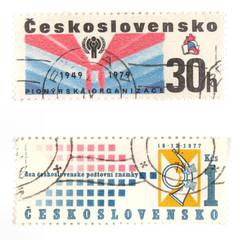 Vintage post stamps